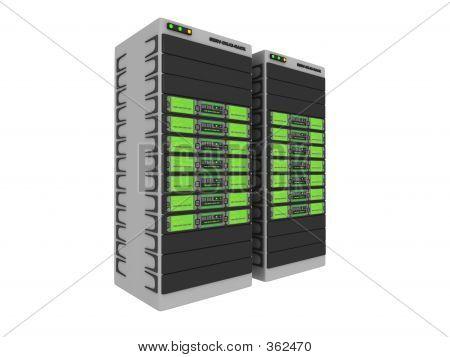 3d Servers-green #1