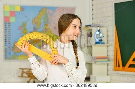 Elementary School Mathematics Or Maths. Science And Technology. Mathematics Matters. Small Child Hol