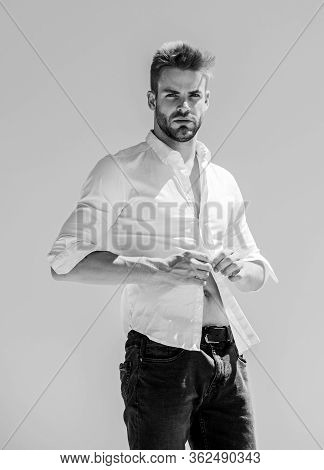 Confident And Stylish. Bearded Guy Business Style. Formal Male Fashion. Modern Lifestyle. Confident
