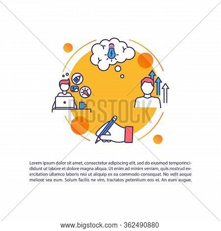 Inspiration Concept Icon With Text. Motivation To Work On Project. Aspiration To Achieve. Ppt Page V