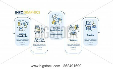 Self Improvement Vector Infographic Template. Learn And Develop Presentation Design Elements. Data V