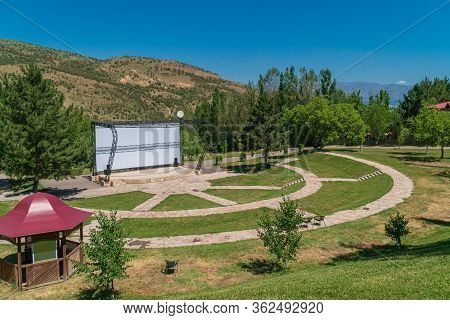 Open-air Cinema In Mountains, Outdoor Cinema Theater