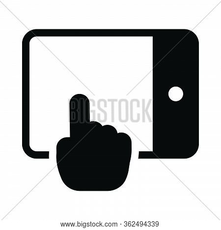 Mobile Tap Icon For Website Design And Desktop Envelopment, Development. Premium Pack.