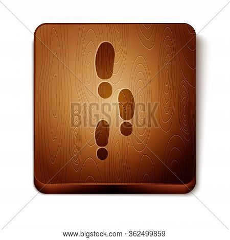 Brown Footsteps Icon Isolated On White Background. Detective Is Investigating. To Follow In The Foot