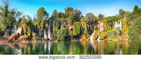 Picturesque Kravice Waterfalls In The National Park Of Bosnia And Herzegovina. Location: Kravice Fal