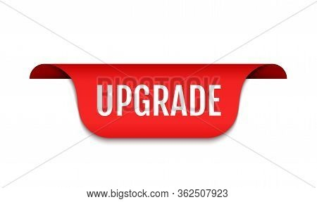 Upgrade Logo Icon, Software Improve Banner Upgrade Improve Update Badge