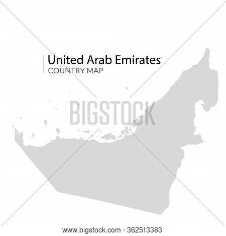 Uae Dubai Vector Map. United Arab Emirates Country Map Icon.
