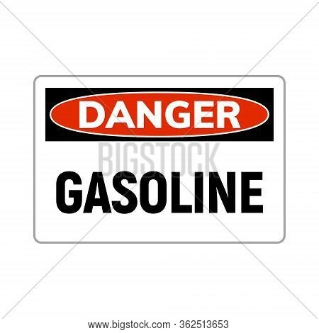 Danger Fuel Gasoline Flammable Gas Icon. Gasoline Liquid Sign Warning.