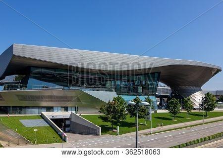 Bmw Welt, Near Olympiapark, Munich, Germany, March 2020.