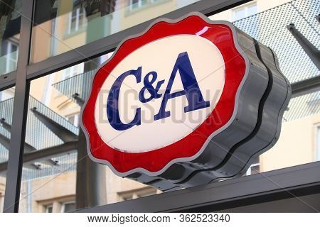 Dresden, Germany - May 10, 2018: Street View Of C&a Clothes Shop In Dresden, Germany. C&a Is A Belgi
