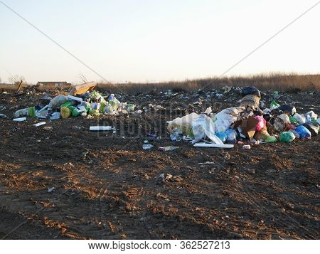 Burning Garbage Dump. Burning Garbage. Concern For The Environment. Environmental Pollution. Kiev, U