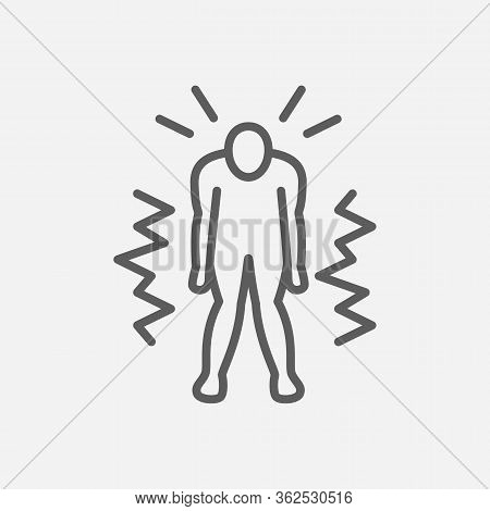 Fatigue Icon Line Symbol. Isolated Vector Illustration Of Icon Sign Concept For Your Web Site Mobile