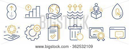 Set Of Science Icons, Such As No Alcohol, Augmented Reality. Certificate, Save Planet. Graph Chart,