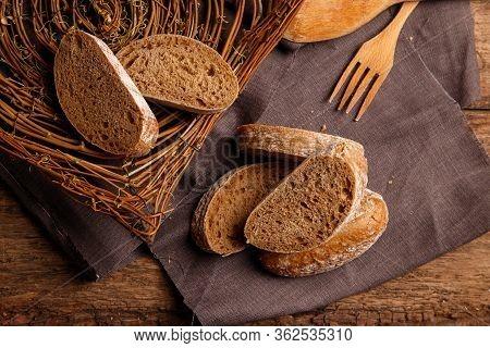 Slicing Bread, Cutlery, Homemade Bread, Still Life.