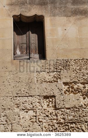 Lecce Window In Old Wall