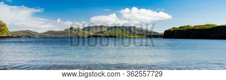 Isle Of Canna In Scotland Is The Westernmost Of The Small Isles Archipelago, In The Scottish Inner H