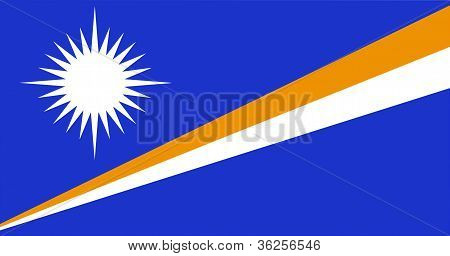 The national flag of the Marshall Islands