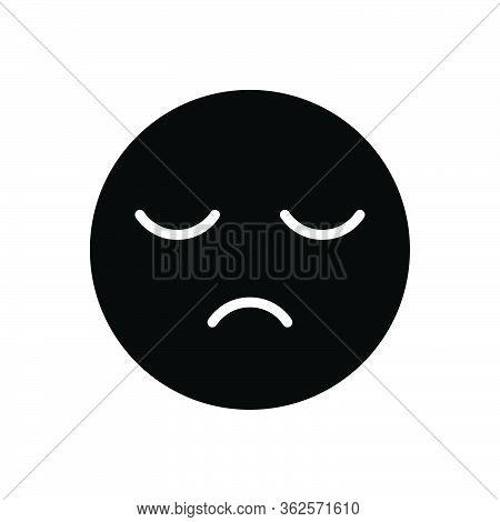 Black Solid Icon For Sleepy Sluggish Slack Lingering Lethargic