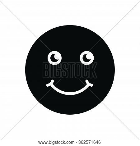 Black Solid Icon For Smile Grin Deride Jest