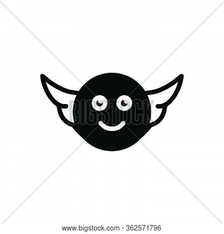 Black Solid Icon For Angel Farishta Serang Fowl Fly