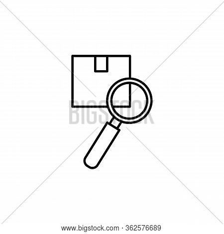 Inspection Line Illustration Icon On White Background