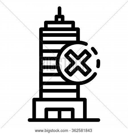 Building Under Demolition Icon. Outline Building Under Demolition Vector Icon For Web Design Isolate
