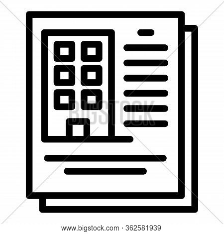 Demolition City Documents Icon. Outline Demolition City Documents Vector Icon For Web Design Isolate
