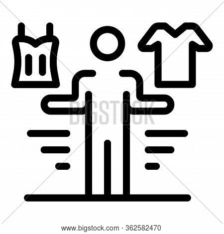 Clothes Choose Icon. Outline Clothes Choose Vector Icon For Web Design Isolated On White Background