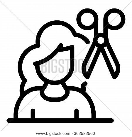 Stylist Beauty Icon. Outline Stylist Beauty Vector Icon For Web Design Isolated On White Background