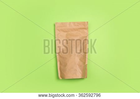 Tea, Coffee Package. Eco-friendly Life - Organic Made Recycle Things Replace Polymers, Plastics Anal