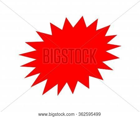 Stickers Red For Discount Price Message, Chat Label Serrated Shape, Sticker Star Label For Sale Prom