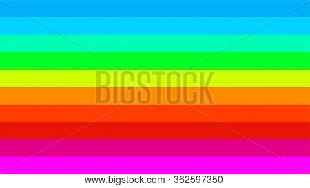 Rainbow Color Horizontal Beautiful For Background, Colorful Flag Stripe Of Bisexual Or Gay Symbol, I