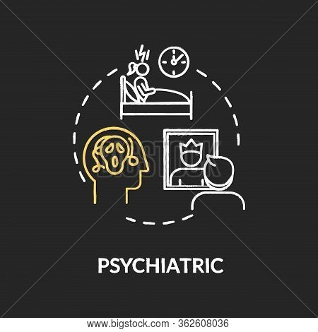 Psychiatric Chalk Rgb Color Concept Icon. Cannabis Caused Mental Disorders Idea. Psychological Probl