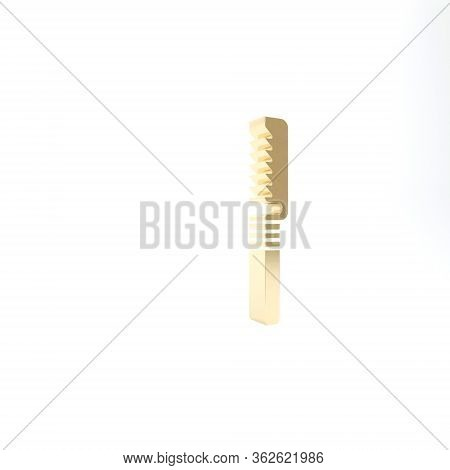 Gold Medical Saw Icon Isolated On White Background. Surgical Saw Designed For Bone Cutting Limb Ampu