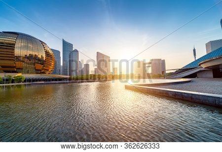 The Skyscraper Of Qianjiang New City Cbd, Hangzhou, China.