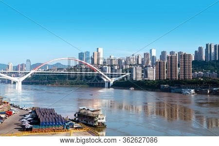 Cityscape Of Chongqing, China, Jiangbei District, Chongqing.