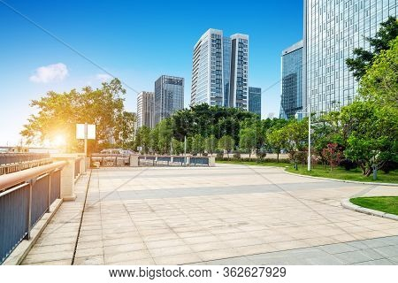 City Square And Modern Skyscrapers, Fuzhou, China.