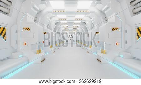 Spaceship Corridor Is A Stock Motion Graphics Video That Shows The Interior Of A Moving Spaceship. T