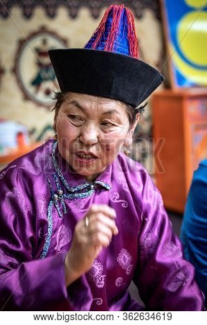 Naryn-atsagat Zone, Near Oulan Oude (ulan Ude), Siberia, Russia - Mars 09, 2020 : Portrait Of Buryat