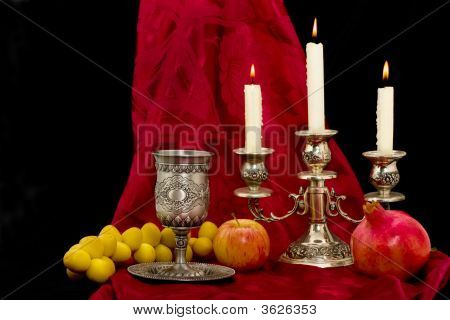 Cup Fruits And Candles