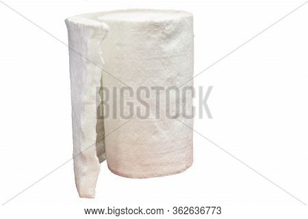 Roll Of Fiberglass Insulation Using To Prevent Heat Loss In Heavy Industry Such As Casting Process ;