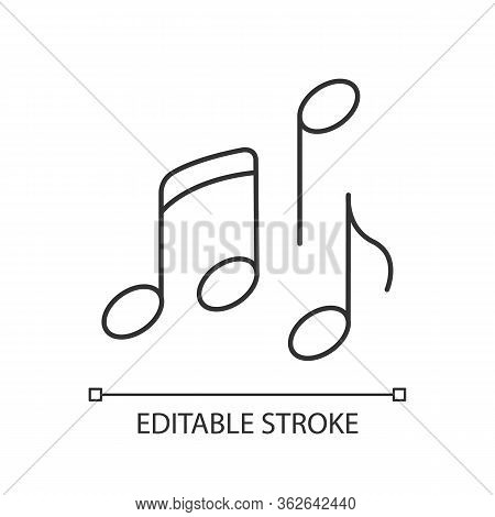 Musical Pixel Perfect Linear Icon. Thin Line Customizable Illustration. Traditional Movie Genre, Art