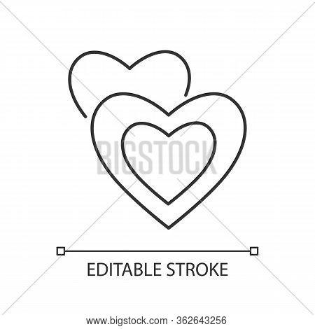 Romance Pixel Perfect Linear Icon. Thin Line Customizable Illustration. Romantic Movie, Love Story C