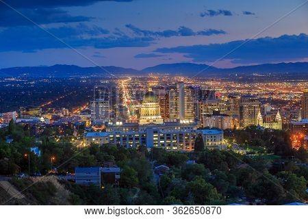 Salt Lake City Skyline Utah