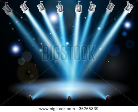 Blue Lights Concept