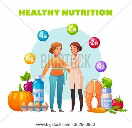 Healthy Nutrition Dietitian Recommendation Flat Composition With Body Mass Index Control Vegetables