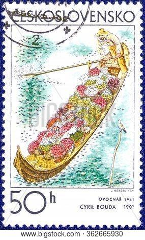 Czechoslovakia - Circa 1971: Postage Stamp Printed In Czechoslovakia,