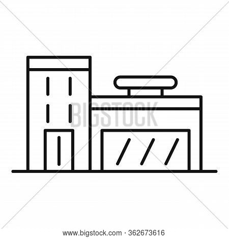 Exhibition Center Store Icon. Outline Exhibition Center Store Vector Icon For Web Design Isolated On