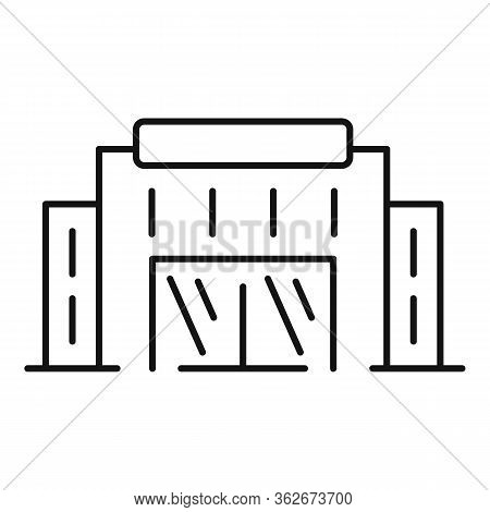 Exhibition Center Shop Icon. Outline Exhibition Center Shop Vector Icon For Web Design Isolated On W