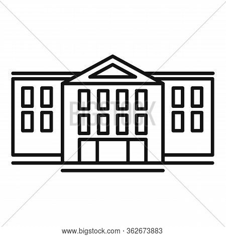 Front Exhibition Center Icon. Outline Front Exhibition Center Vector Icon For Web Design Isolated On